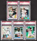 Baseball Cards:Lots, 1978-84 Donruss, Fleer & Topps Eddie Murray PSA Graded Collection (5).... (Total: 5 items)