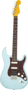 Musical Instruments:Electric Guitars, 2011 Warmoth Strat Sonic Blue Solid Body Electric Guitar.. ...