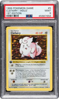 Memorabilia:Trading Cards, Pokémon Clefairy #5 First Edition Base Set Rare Hologram Trading Card (Wizards of the Coast, 1999) PSA MINT 9....
