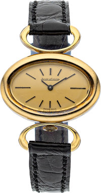 Jaeger Le Coultre Lady's Gold, Leather Watch