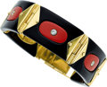 Estate Jewelry:Bracelets, Diamond, Coral, Black Onyx, Gold Bracelet . ...
