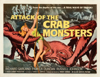 """Attack of the Crab Monsters (Allied Artists, 1957). Very Good/Fine on Paper. Half Sheet (22"""" X 28""""). Albert Ka..."""
