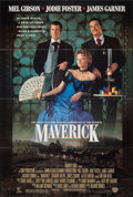 """Movie Posters:Comedy, Maverick & Other Lot (Warner Bros., 1994). Folded, Very Fine-. One Sheets (2) (27"""" X 40.25"""" & 27"""" X 41""""). Comedy.. ... (Total: 2 Items)"""