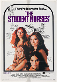 """The Student Nurses & Other Lot (New World, 1970). Folded, Fine/Very Fine. One Sheets (4) (27"""" X 41""""). Sexp..."""