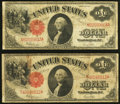 Fr. 39 $1 1917 Legal Tenders Two Examples Very Good-Fine. ... (Total: 2 notes)