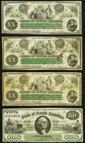 Columbia, SC- State of South Carolina $20 (3); $50 Dec. 1, 1873 Fine-Very Fine or Better. ... (Total: 4 notes)