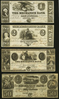 Augusta, GA- Mechanics Bank $1; $2; $5; $50 1854-58 Very Fine or Better. ... (Total: 4 notes)
