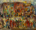 Paintings, Theresa Bernstein (American, 1890-2002). Allen Street, 1943. Oil on canvas. 25 x 30 inches (63.5 x 76.2 cm). Signed lowe...