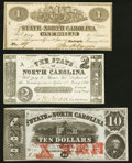 Raleigh, NC- State of North Carolina $1; $2; $10 1861-63 Choice About Uncirculated or Better