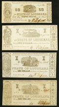 Obsoletes By State:Louisiana, Shreveport, LA- State of Louisiana 50¢; $1 Mar. 1, 1864 (3) Very Fine or Better.. ... (Total: 4 notes)