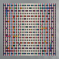 Yaacov Agam (b. 1928) Untitled, late 20th century Serigraph in colors on wove paper 24-3/4 x 24-3/4 inches (62.9 x 62