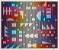 Prints & Multiples, Yaacov Agam (b. 1928). Night Rainbow, 1982. Screenprint in colors on paper. 35 x 42 inches (88.9 x 106.7 cm) (image). Ed...