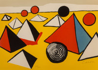 Alexander Calder (1898-1976) Pyramids and Circles, late 20th century Lithograph in colors on wove pa