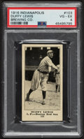 Baseball Cards:Singles (Pre-1930), 1916 Indianapolis Brewing Co. Duffy Lewis #103 PSA VG-EX 4....