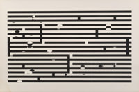 Yaacov Agam (b. 1928) Untitled, late 20th century Screenprint in colors on card 25-7/8 x 38-5/8 inches (65.7 x 98.1 c