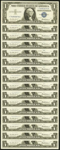 Fr. 1619* $1 1957 Silver Certificates. Sixteen Examples. Choice Crisp Uncirculated. ... (Total: 16 notes)
