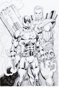 Original Comic Art:Covers, Rob Liefeld Cable / Deadpool Annual #1 Variant Cover Original Art (Marvel, 2018)....