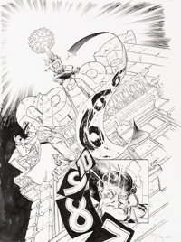 """Michael William Kaluta The Spirit #5 Complete 8-Page Story """"666 in 10... 9 ... 8..."""" Original Art (DC, 2010)..."""