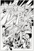 Original Comic Art:Panel Pages, Mark Bagley and Andrew Hennessy Invincible I...