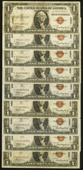 Fr. 2300 $1 1935A Hawaii Silver Certificates. Nine Examples. Fine or Better. ... (Total: 9 notes)