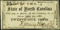 Raleigh, NC- State of North Carolina 25¢ Oct. 1, 1861 Cr. 65 Extremely Fine-About Uncirculated