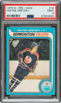 Hockey Cards:Singles (1970-Now), 1979 O-Pee-Chee Wayne Gretzky #18 PSA Mint 9 - Only Two Higher. ...