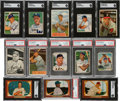 Autographs:Sports Cards, Signed 1949 - 1955 Bowman Baseball Card Collection (27) With HoFers. ...