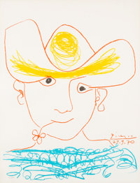 Pablo Picasso Young Spanish Peasant Limited Edition #411/2500 Print (Michel Casse,1974)