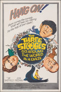 """Movie Posters:Comedy, The Three Stooges Go Around the World in a Daze (Columbia, 1963). Folded, Fine. One Sheet (27"""" X 41""""). Comedy.. ..."""