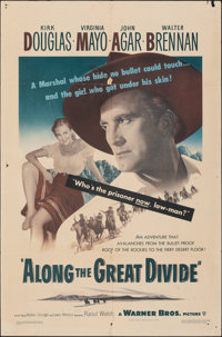 "Along the Great Divide (Warner Bros., 1951). Folded, Fine+. One Sheet (27"" X 41""). Western"