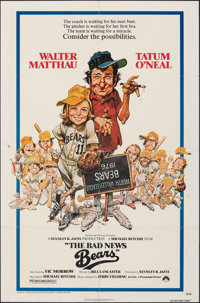 """The Bad News Bears & Other Lot (Paramount, 1976). Folded, Fine+. One Sheets (4) (27"""" X 41"""", 26.5"""" X 3..."""