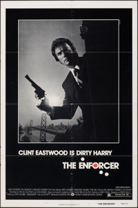 """The Enforcer (Warner Bros., 1977). Folded, Fine/Very Fine. One Sheet (27"""" X 41""""). Bill Gold Photography. Crime..."""