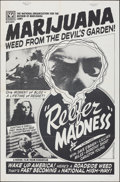 """Movie Posters:Exploitation, Reefer Madness (Roninfilm, R-Late 1970s). Folded, Very Fine-. One Sheet (27"""" X 41""""). Exploitation.. ..."""