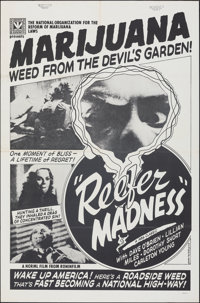 """Reefer Madness (Roninfilm, R-Late 1970s). Folded, Very Fine-. One Sheet (27"""" X 41""""). Exploitation"""