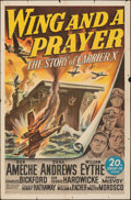 """Movie Posters:War, Wing and a Prayer (20th Century Fox, 1944). Folded, Fine+. One Sheet (27"""" X 41""""). War.. ..."""