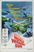 "Movie Posters:Documentary, World Without Sun (Columbia, 1964). Folded, Very Fine. One Sheet (27"" X 41""). Documentary.. ..."