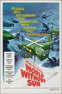 "World Without Sun (Columbia, 1964). Folded, Very Fine. One Sheet (27"" X 41""). Documentary"