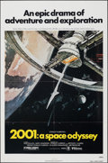 """Movie Posters:Science Fiction, 2001: A Space Odyssey (MGM, R-1980). Folded, Very Fine/Near Mint. One Sheet (27"""" X 41""""). Robert McCall Artwork. Science Fict..."""