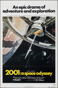 "2001: A Space Odyssey (MGM, R-1980). Folded, Very Fine/Near Mint. One Sheet (27"" X 41""). Robert McCall Artwork..."