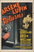 """Movie Posters:Mystery, Arsene Lupin Returns (MGM, 1938). Folded, Fine/Very Fine. One Sheet (27"""" X 41"""") Style D. Mystery.. ..."""