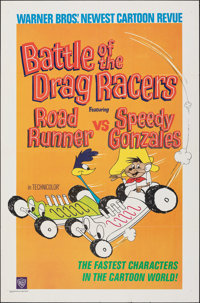"""Battle of the Drag Racers (Warner Bros., 1966). Folded, Very Fine-. One Sheet (27"""" X 41""""). Animation"""