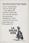 """Movie Posters:Foreign, La Dolce Vita (American International, R-1966). Folded, Fine/Very Fine. One Sheet (27"""" X 41""""). Foreign.. ..."""
