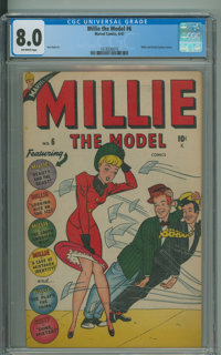 A Date With Millie #6 (Marvel, 1960) CGC VF 8.0 Off-white pages