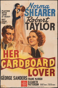 """Her Cardboard Lover (MGM, 1942). Folded, Fine+. One Sheet (27"""" X 40"""") Style C. Comedy"""
