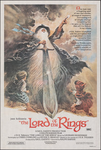"""The Lord of the Rings (United Artists, 1978). Folded, Near Mint. Australian One Sheet (27"""" X 40""""). Tom Jung Ar..."""
