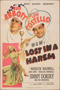 """Lost in a Harem (MGM, 1944). Folded, Fine/Very Fine. One Sheet (27"""" X 41""""). Comedy"""