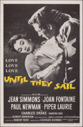 """Movie Posters:Romance, Until They Sail (MGM, 1957). Folded, Very Fine-. One Sheet (27"""" X 41""""), Australian One Sheet (27"""" X 40""""), & Lobby Card Set o... (Total: 10 Items)"""