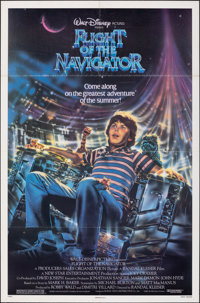"Flight of the Navigator & Other Lot (Buena Vista, 1986). Folded, Fine/Very Fine. One Sheets (4) (25.25"" X 36.5&..."