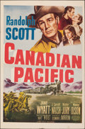 "Movie Posters:Western, Canadian Pacific (20th Century Fox, 1949). Folded, Very Fine-. One Sheet (27"" X 41""). Western.. ..."