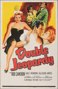 """Movie Posters:Thriller, Double Jeopardy (Republic, 1955). Folded, Very Fine. One Sheet (27"""" X 41""""). Thriller.. ..."""